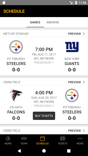 Pittsburgh Steelers Screenshot