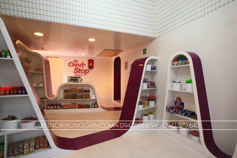 thiết kế shop kẹo candy stop 6