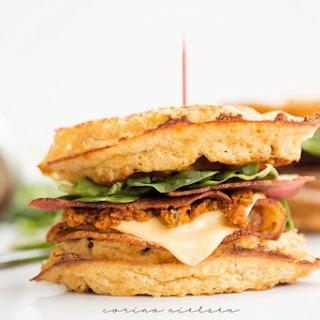 Cheddar Bacon Waffle Sandwiches