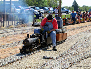 Photo: Clyde Brown with steam up      HALS Public Run Day 2014-0419 RPW  10:29 AM