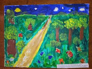 """Photo: Миша Бинун, 9 лет. Красивый пейзаж. Студ. """"Вдохновение"""" Натальи Ланге. Израиль. г. Беэр-Шева"""