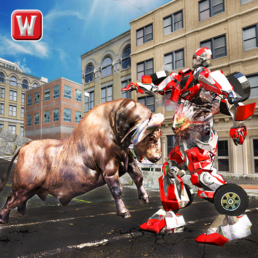 Super X Robot VS Angry Bull Attack Simulator (game)