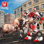 Super X Robot VS Angry Bull Attack Simulator Icon