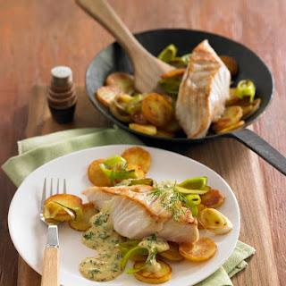 Pannfisch mit Senfsoße