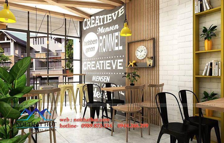 thiết kế quán nước ép, thiết kế quán cafe