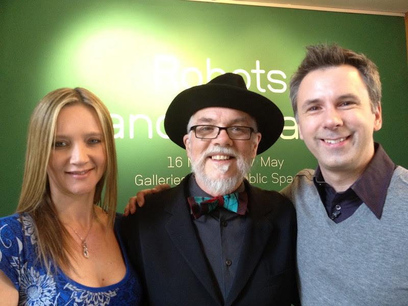 Photo: Spencer & Kate with Professor Noel Sharkey