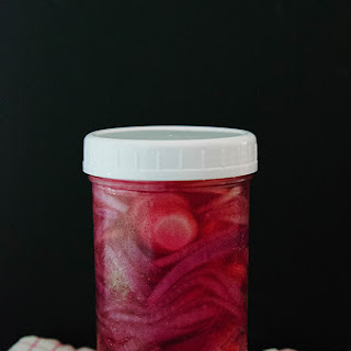 Quick Pickled Red Onions & Radishes.