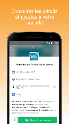 Événements - Pôle emploi - screenshot