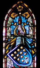 Photo: Patronatsfenster mit Wappen der Familie von Bülow