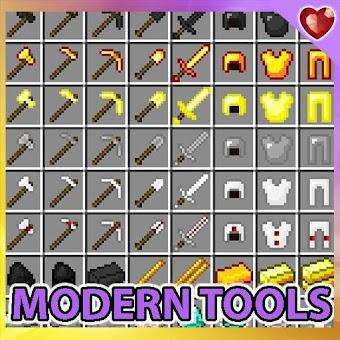 Modern tools mod for minecraft pe