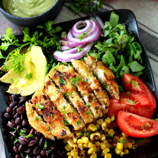 Alaskan Pollock Southwestern Salad with Avocado Dressing