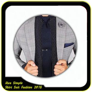 Men Simple Shirt Suit Fashion 2018 - náhled