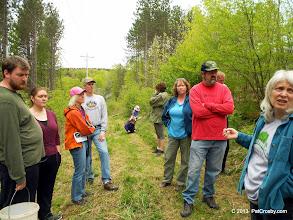 Photo: Discussion of spraying, perennial plants habitat