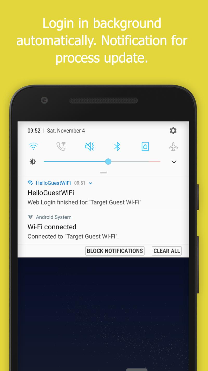 WiFi Web Login Screenshot 1
