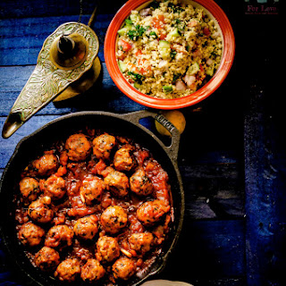 Moroccan Inspired Meat Balls and Couscous Salad