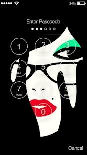Girl Face Art Lock Screen - náhled