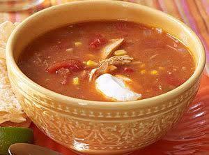 Light Chicken Tortilla Soup