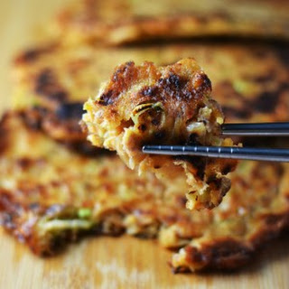 Kimchi and Sausage Pancakes (Kimchi Jun).
