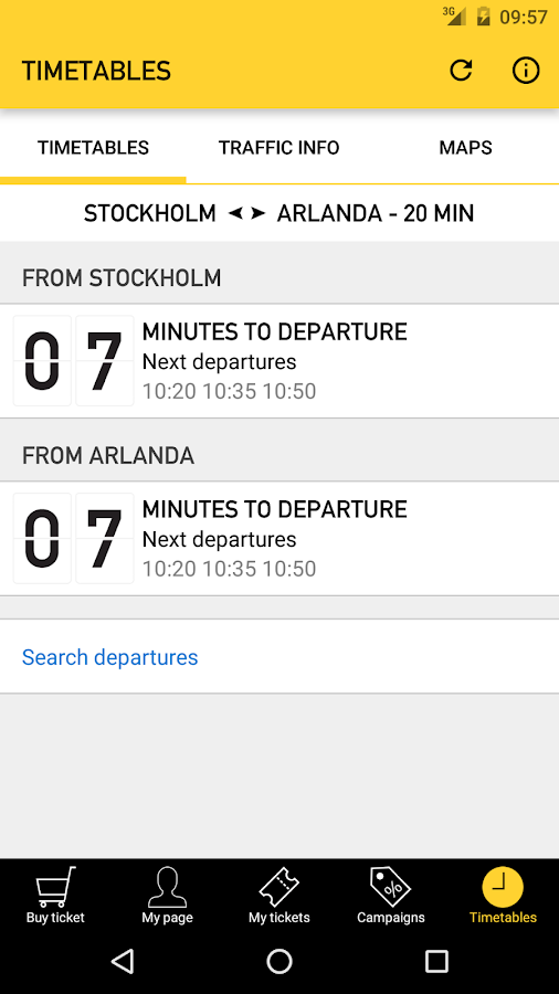 Arlanda Express- screenshot