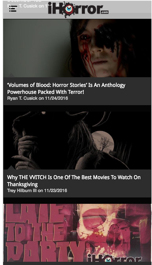 iHorror | Horror Movie News- screenshot