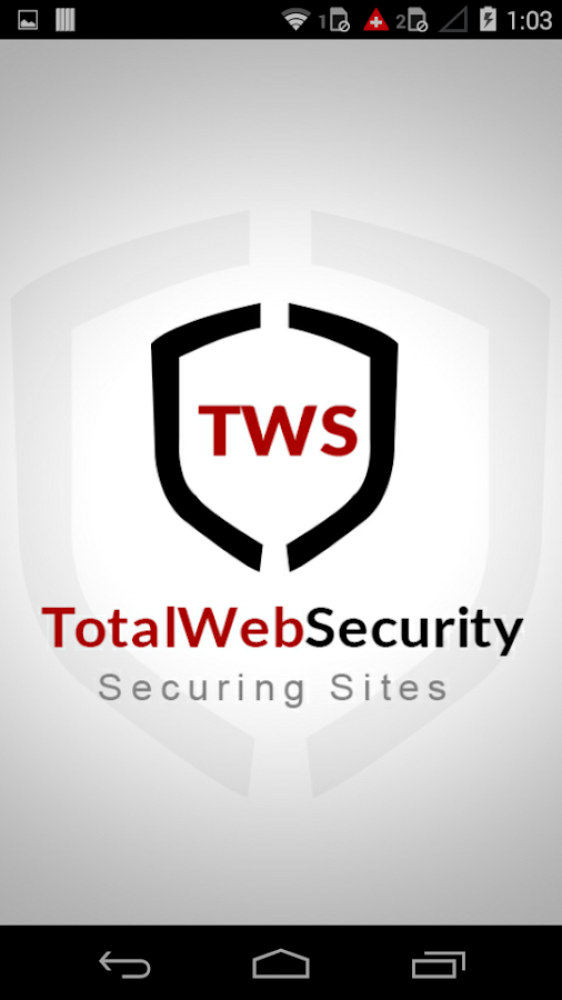 TotalWebSecurity- screenshot
