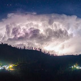 Cumulonimbus forming by Martin Marthadinata - Landscapes Cloud Formations ( nature, night, landscape, nightscape )