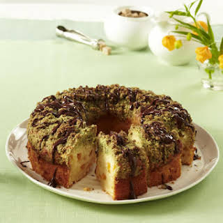 Apricot Cake with Pumpkin Seed Crumble.