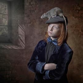 Looking by Carola Kayen-mouthaan - Babies & Children Children Candids ( child, fine art, portrait, animal,  )