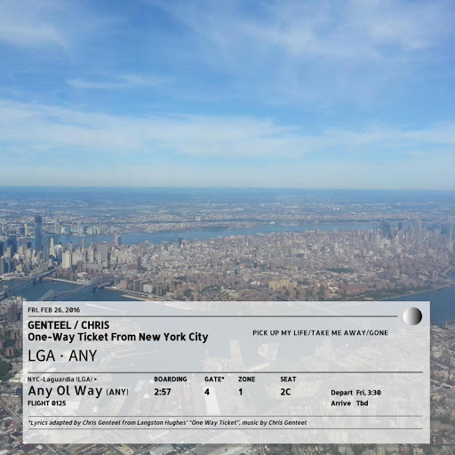 One-Way Ticket from New York City - Chris Genteel