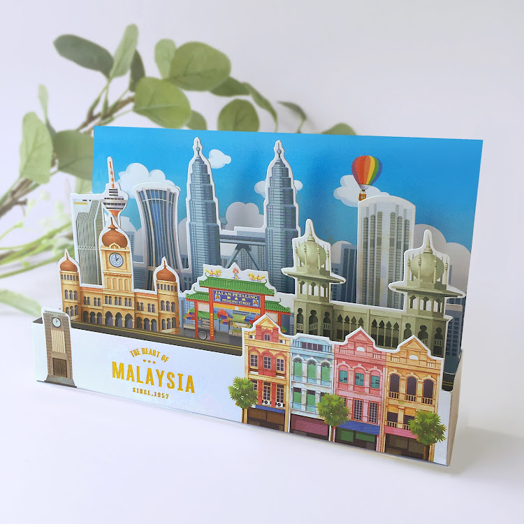 3D Greeting Card: The Heart Of Malaysia by Loka Made