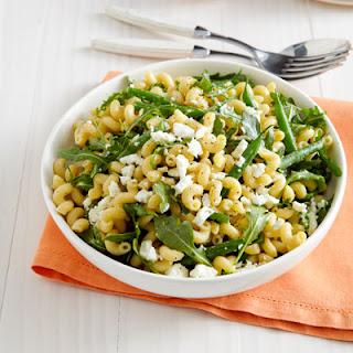 Lemony Pasta Salad with Green Beans and Arugula