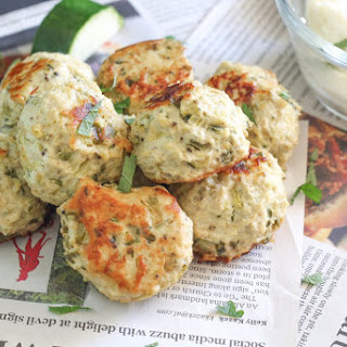 Chicken Zucchini Meatballs with Mashed Potatoes Recipe