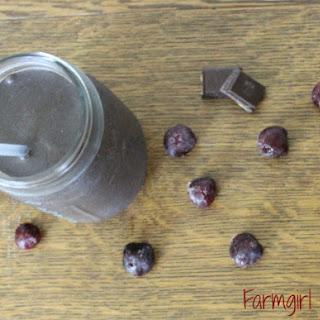 Dark Chocolate Cherry Smoothie.