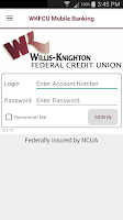Screenshot of WKFCU Mobile Banking