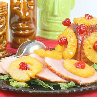 Hawaiian Brown Sugar Glazed Ham.