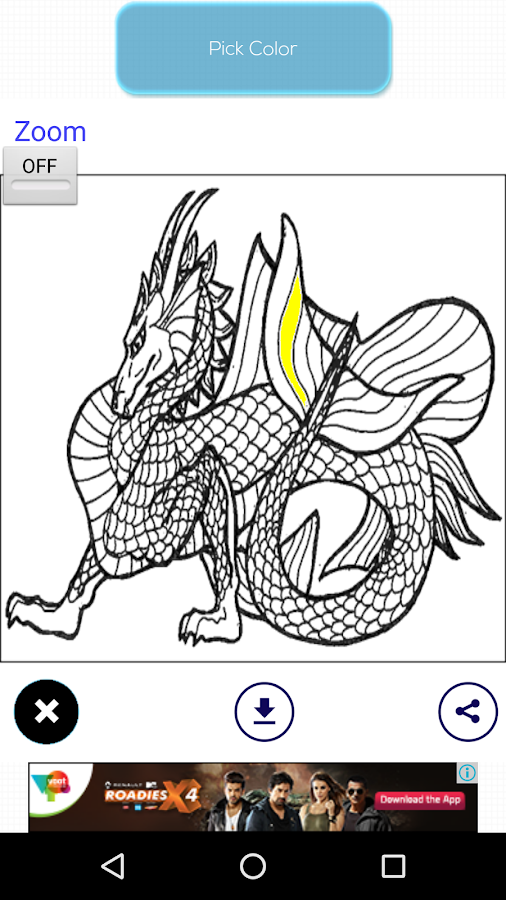 dragon coloring book screenshot - Dragon Coloring Book