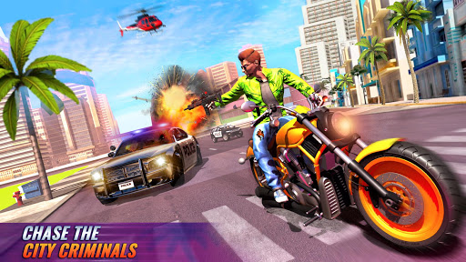 US Police Bike Gangster Chase Crime Shooting Games 1.0.7 screenshots 1