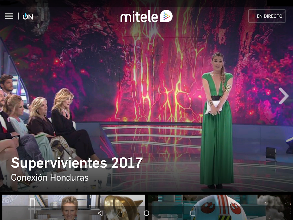 Mitele - TV a la carta: captura de pantalla