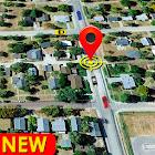 GPS navigazione, terra cartina e viaggio direzione icon