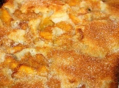 The batter will rise up and surround the peaches during the baking process.Serve warm...