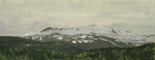 Mortenson_Extinction coefficient, 2018, peinture à l'huile sur panneau de bois, 38 x 15 cm