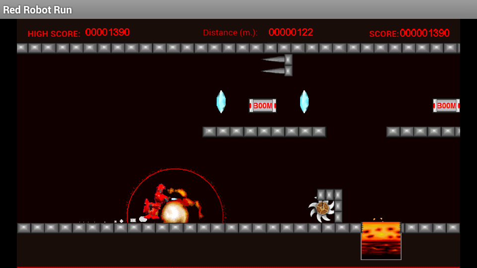 Red Robot Run- screenshot