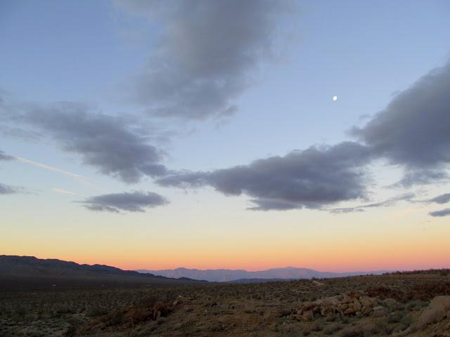 Earth shadow over the San Jacinto Mountains