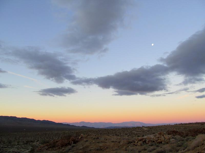 Photo: Earth shadow over the San Jacinto Mountains