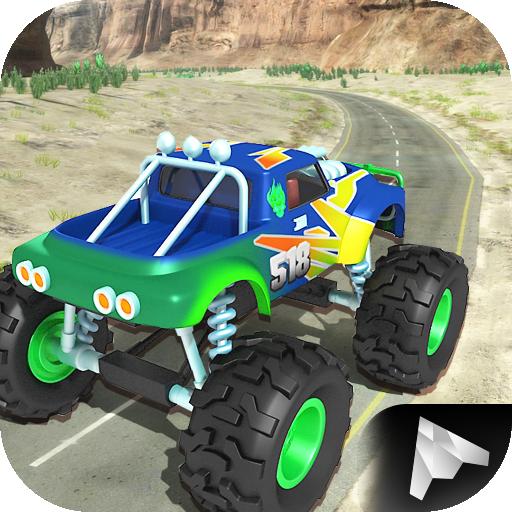 赛车游戏のモンスターカーヒルクライム LOGO-記事Game