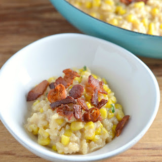 Weeknight Risotto with Bacon and Corn