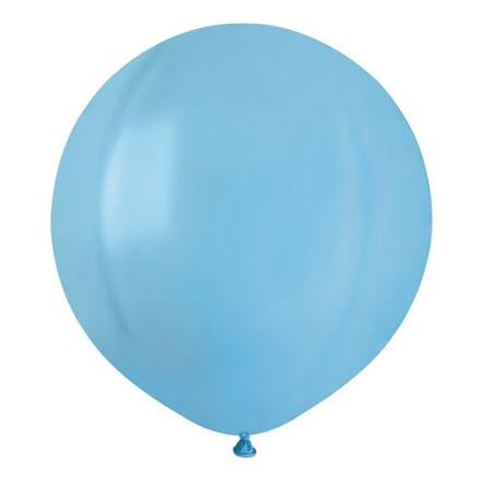 Ballonger helrunda 48 cm, ljusblå
