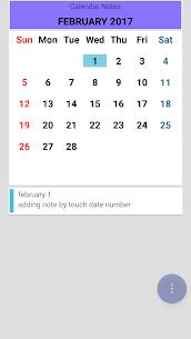 التقويم ملاحظات 2