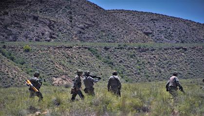Despliegue de legionarios en el campo de maniobras
