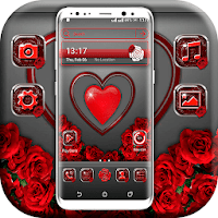 Red Heart Valentine Launcher Theme